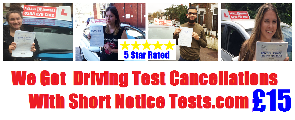 short notice driving test image