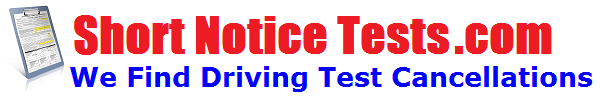 short notice driving test logo